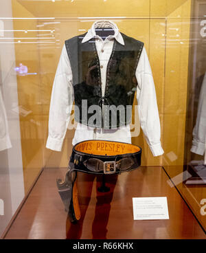 Musical Instrument Elvis Presley CHARRAL costume at the Museum, Phoenix, Arizona, USA - Stock Image
