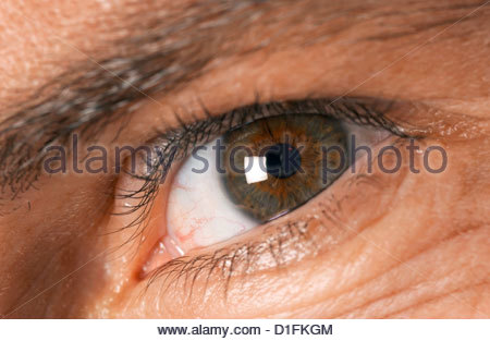 A MAN'S EYE - Stock Image