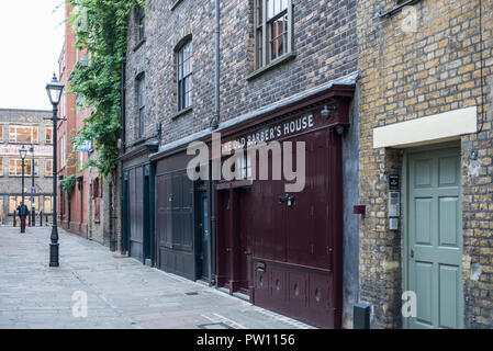 View along Puma Court in east London, England, UK - Stock Image