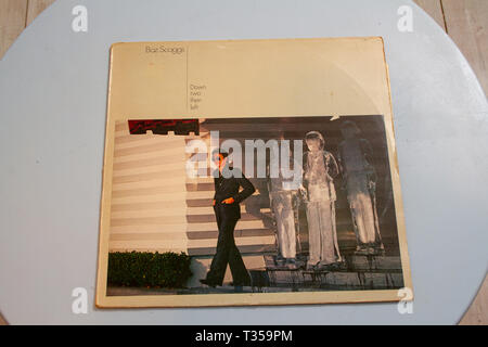 Record cover for Boz Scagg's 1977 album Down Two Then Left - Stock Image