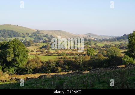 Upper Dovedale, Staffordshire Derbyshire border, Peak District National Park. England UK - Stock Image