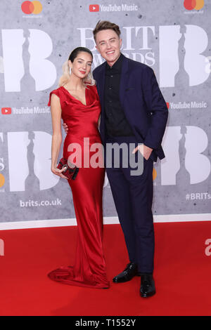 The Brit Awards 2019 held at the O2 - Arrivals  Featuring: Roman Kemp Where: London, United Kingdom When: 20 Feb 2019 Credit: Lia Toby/WENN.com - Stock Image