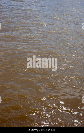Thames river water close up, London UK. - Stock Image
