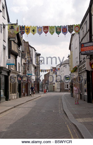 Community and Trade Flags in Leominster Herefordshire - Stock Image