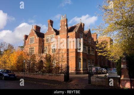 Ridley Hall, Cambridge, theological college, Cambridge, UK - Stock Image