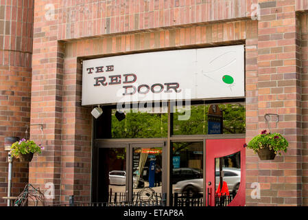 The Red Door Martini Bar - Salt Lake City, Utah - Stock Image