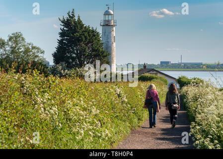 Hale lighthouse. Hale. Merseyside - Stock Image