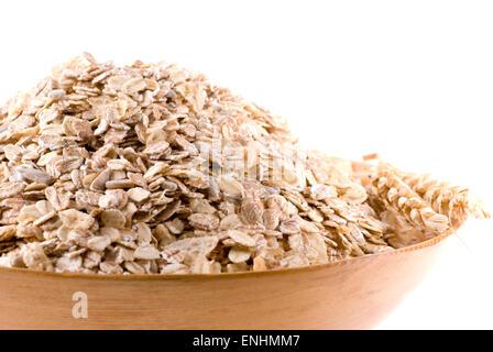 Oat, wheat, rye and sunflower seed muesli. - Stock Image