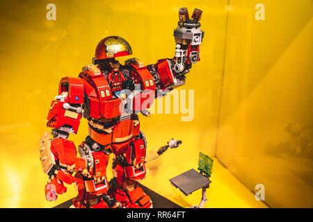 lego Iron Man model  - Stock Image