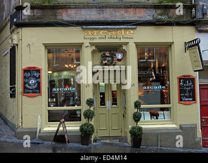 Arcade Edinburgh Haggis & Whisky House, Scotland,UK - Stock Image
