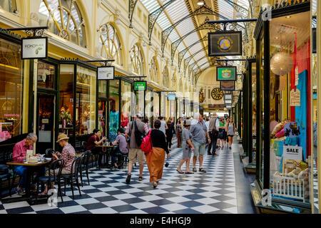 The Royal Arcade Melbourne CBD Australia - Stock Image