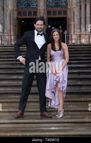 Jamie Jewitt and Camilla Thurlow attends The global premiere of Netflix's OUR PLANET on Friday 5 April 2019 at The Natural History Museum, London. . Picture by Julie Edwards. - Stock Image
