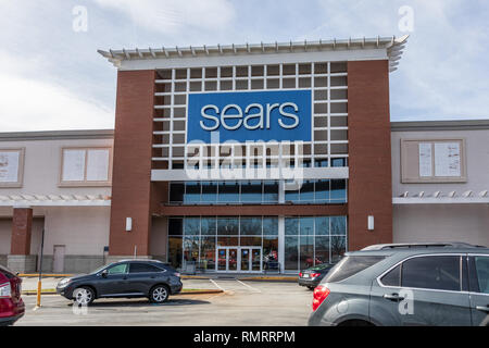 GREENSBORO, NC, USA-2/14/19: Sears storefront in Friendly Shopping Center. - Stock Image