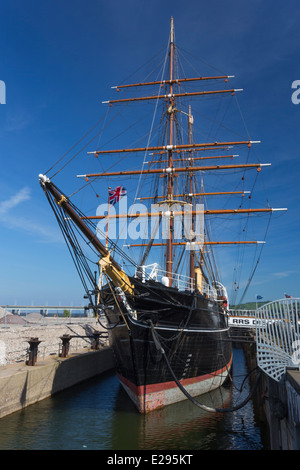 Royal Research Ship RRS Discovery in Dundee - Stock Image