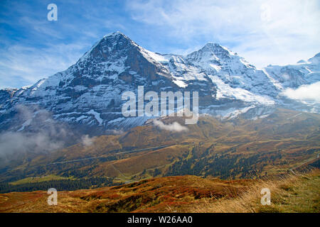 Autumn landscape in the Jungfrau region - Stock Image