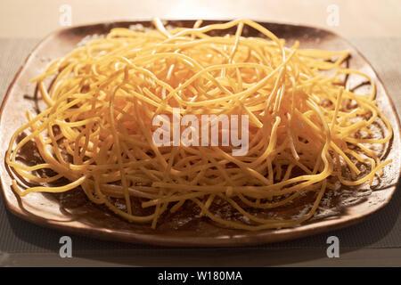 Italy Abruzzo Spaghetti alla chitarra pasta - Stock Image