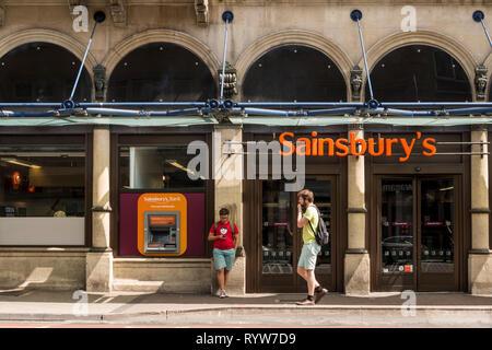 Sainsbury's shop, Bristol, UK - Stock Image
