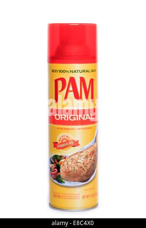 An aerosol can of original Pam cooking spray - Stock Image