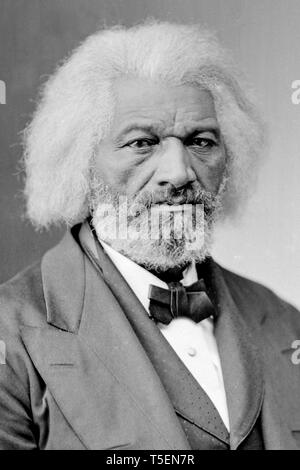 Frederick Douglass (1818-1895), portrait, by Brady-Handy, c. 1865 - Stock Image