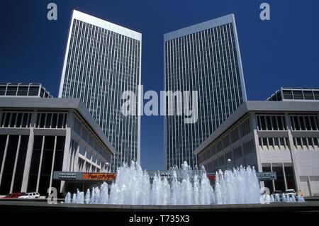 the old Shubert Theatre & ABC Entertainment Centre, Century City, Los Angeles, California, USA, 2000 - Stock Image