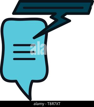 speech bubbles messages icons vector illustration design - Stock Image