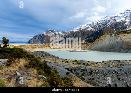 Mountains and Glacial Lake - Stock Image