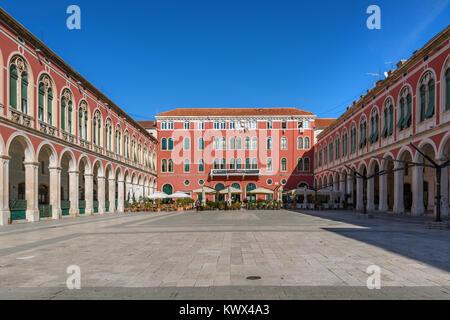 Prokurative/ Republic Square, Split, Croatia - Stock Image