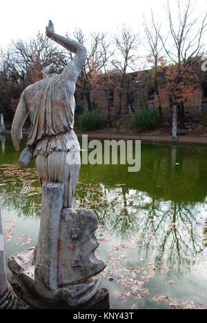 Hadrian's Villa was constructed in the 2nd Century AD as a retreat for the Roman emperor Hadrian - Stock Image