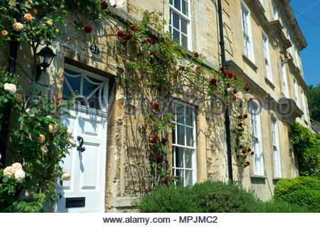 Bradford-on-Avon - period properties in the town. Bradford-on-Avon in Wiltshire, UK. - Stock Image