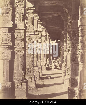 Charles Moravia (British   (Interior of the Hindoo Temple in Kootub)   Google Art Project - Stock Image