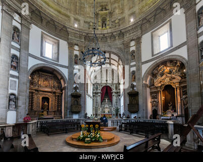 Porto, Portugal, August 15, 2017: Interior of the 17th-century Serra do Pilar Monastery in Porto, Portugal. UNESCO - Stock Image