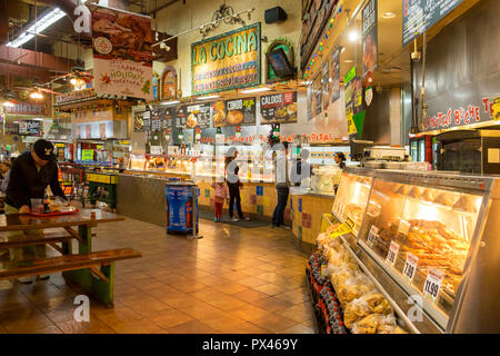Mexican food store interior with goods in Phoenix, Arizona, USA - Stock Image