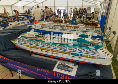 Model of cruise liner at Wings and Wheels - Stock Image