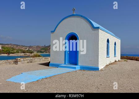Church of St. Nicholas on the Islet Kastri near Kefalos on the Greek island of Kos - Stock Image