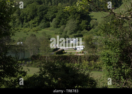 Newberry Valley caravan & camping site, Combe Martin, North Devon - Stock Image
