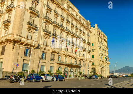 Grand Hotel Saint Lucia, Hotel Excelsior, Via Partenope, Neapel, Italien - Stock Image