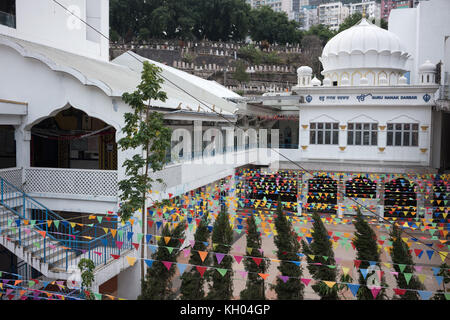 Sikh Temple in Wan Chai - Stock Image