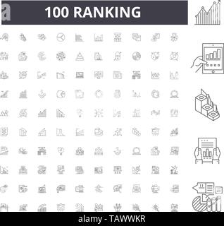Ranking line icons, signs, vector set, outline illustration concept  - Stock Image
