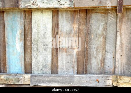 Old Wooden Fence Background. - Stock Image