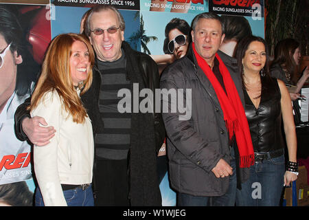 New York, USA. 13 March, 2009. Candace Keough, Actor, Danny Aiello, Mark Ugenti, Eden Wexler at the launch of Carrera Vintage Sunglasses at Angel Orensanz Foundation. Credit: Steve Mack/Alamy - Stock Image