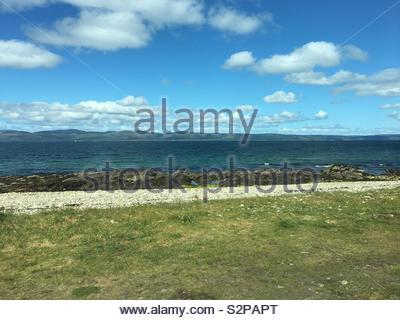 Isle of Arran, Scotland on a sunny day - Stock Image