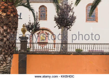 SIde of the Church of Our Lady of the Conception, a 16th century church in La Laguna, Tenerife, Canary Islands, - Stock Image