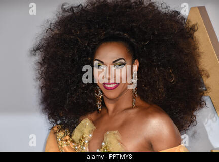 London, UK. 27th September 2018. Shangela attend A Star Is Born UK Premiere at Vue Cinemas, Leicester Square, London, UK 27 September 2018. Credit: Picture Capital/Alamy Live News - Stock Image