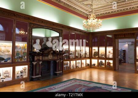 Bankfield Museum interior, Halifax, West Yorkshire - Stock Image