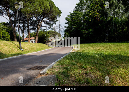 Small road in the park - Stock Image