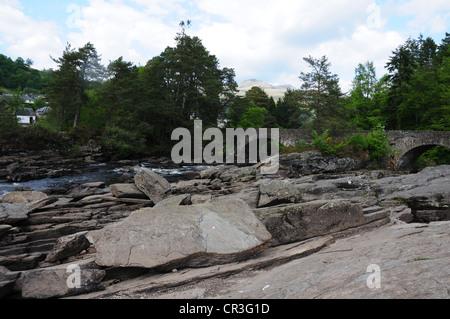 Falls of Dochart, River Dochart, Killin, Perthshire - Stock Image