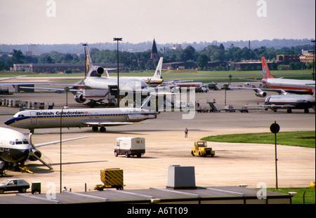 View across Gatwick Airport UK - Stock Image