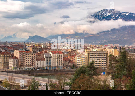Old Town of Grenoble, France - Stock Image
