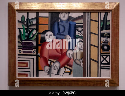 Fernand Leger, Three Woman by a Garden, The Metropolitan Museum of Art, Manhattan, New York USA - Stock Image