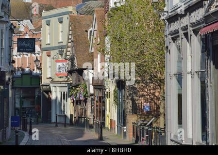 George Street, Hastings old town, East Sussex, England, UK - Stock Image